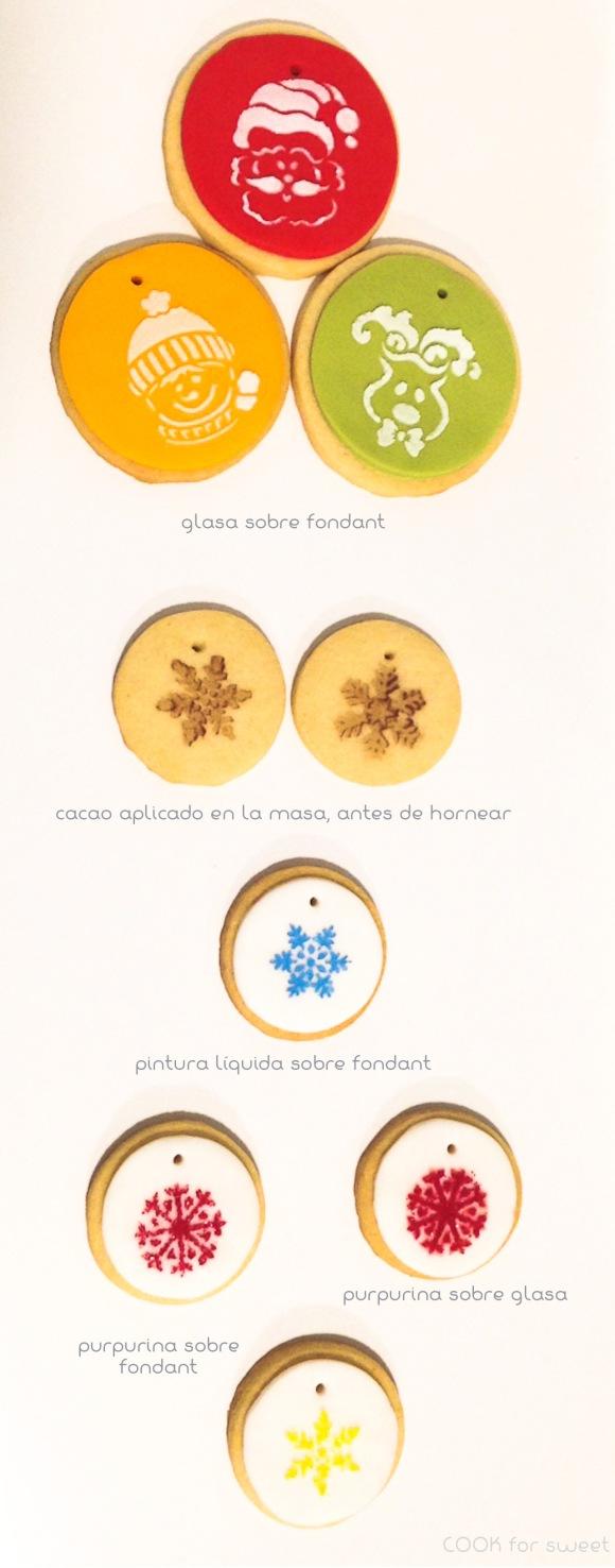 Galletas decoradas con stencil. O cómo decorar el árbol de Navidad ...
